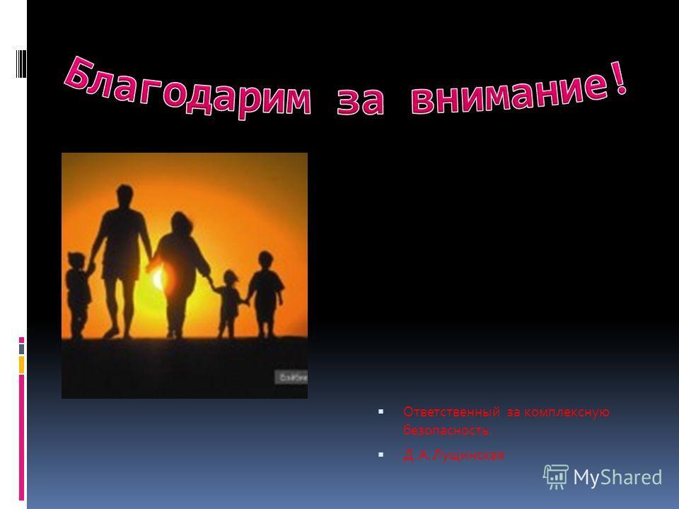Ответственный за комплексную безопасность: Д.А.Лущинская