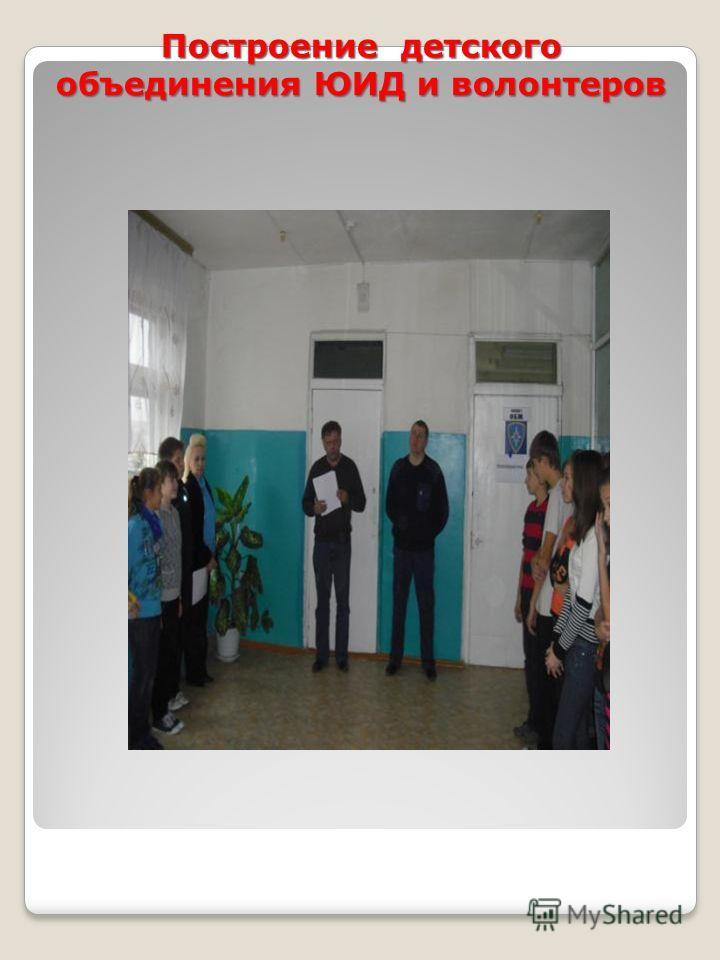 Построение детского объединения ЮИД и волонтеров