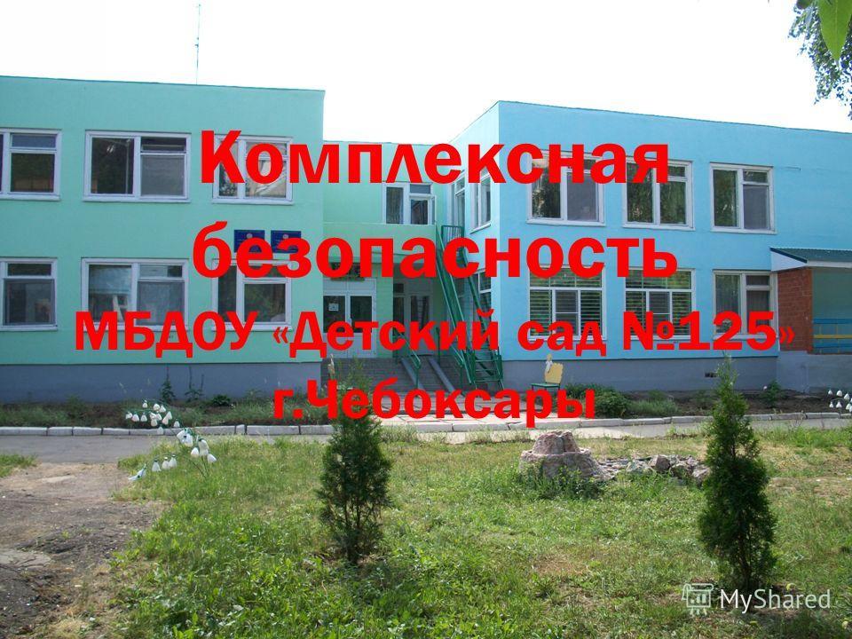 Комплексная безопасность МБДОУ «Детский сад 125» г.Чебоксары