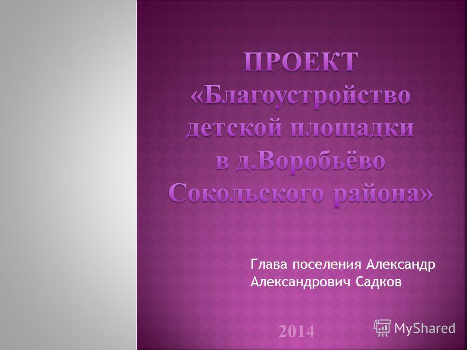 Глава поселения Александр Александрович Садков 2014