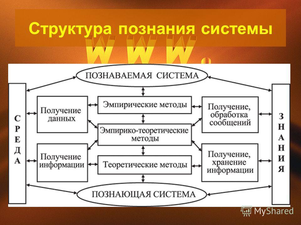 Структура познания системы