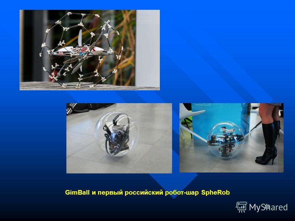 12 GimBall и первый российский робот-шар SpheRob