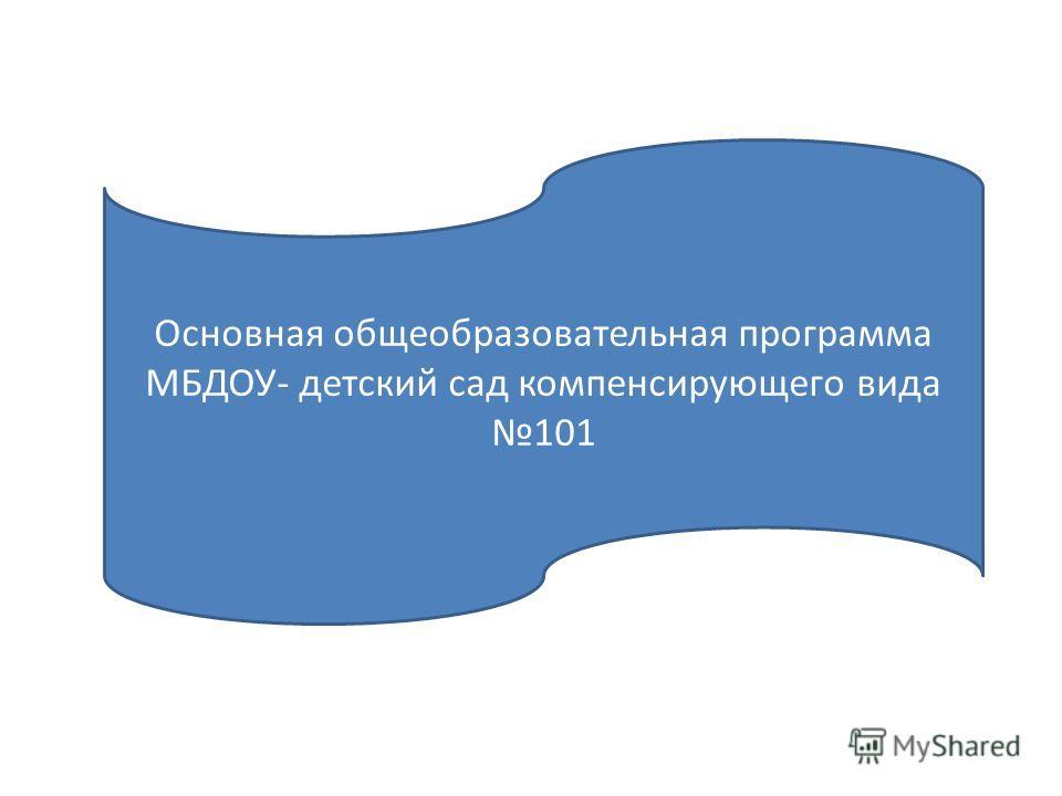 Основная общеобразовательная программа МБДОУ- детский сад компенсирующего вида 101