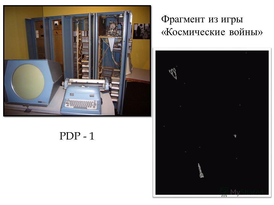 PDP - 1 Фрагмент из игры « Космические войны »