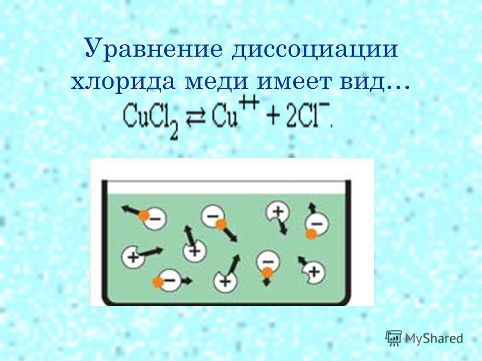 Уравнение диссоциации хлорида меди имеет вид…