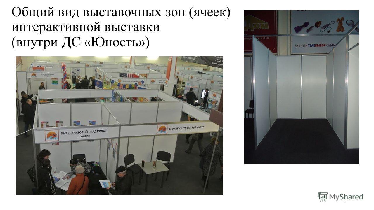 Общий вид выставочных зон (ячеек) интерактивной выставки (внутри ДС «Юность») 5