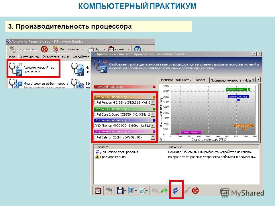 КОМПЬЮТЕРНЫЙ ПРАКТИКУМ 3. Производительность процессора