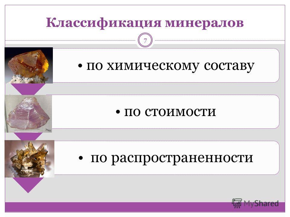 Классификация минералов по химическому составу по стоимости по распространенности 7