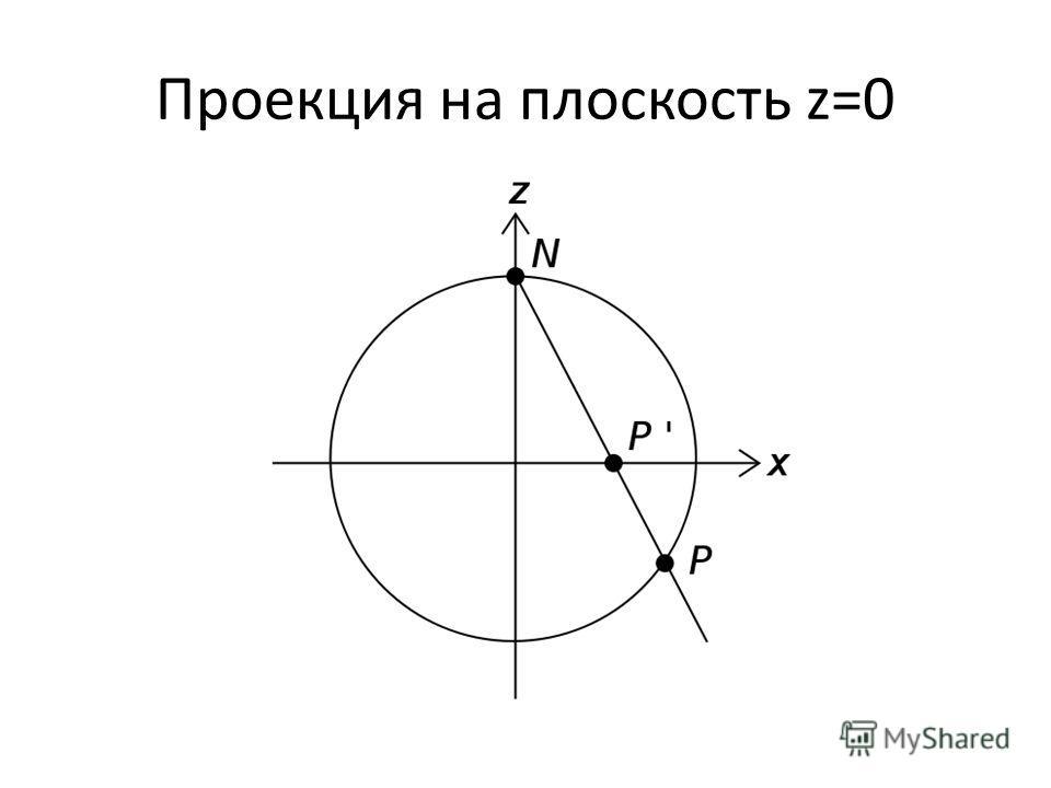 Проекция на плоскость z=0