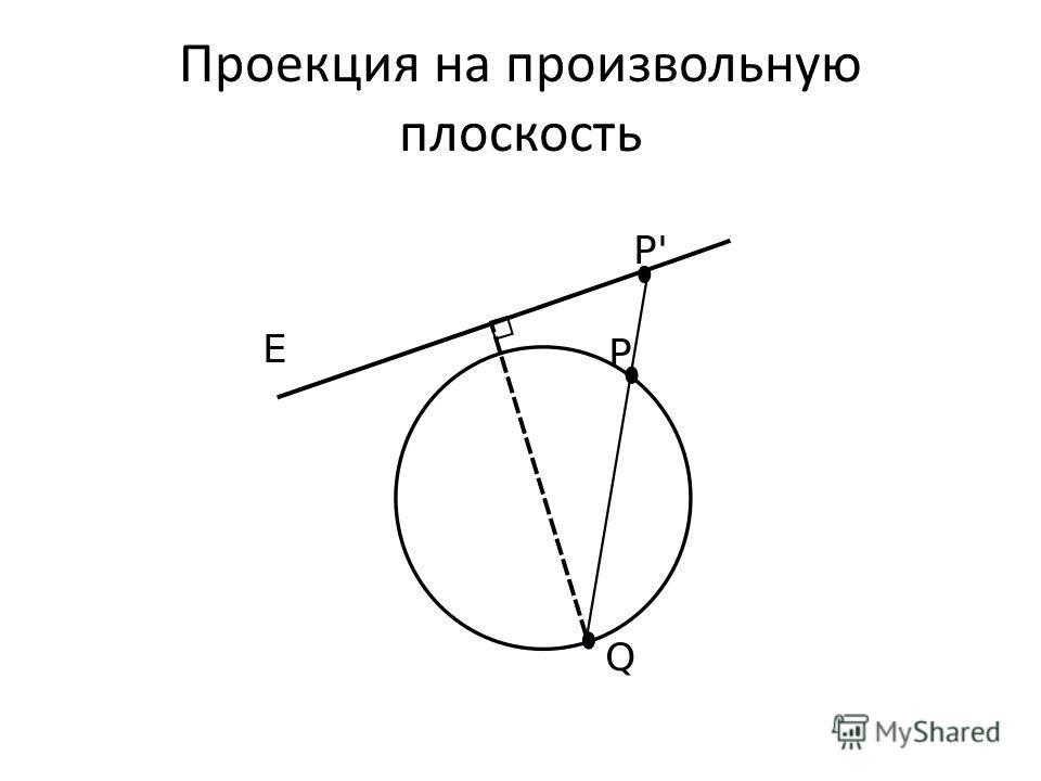 Проекция на произвольную плоскость
