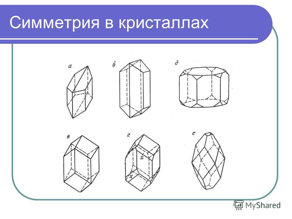 Симметрия в кристаллах