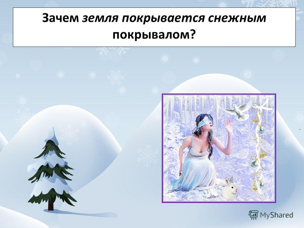 Зачем земля покрывается снежным покрывалом?