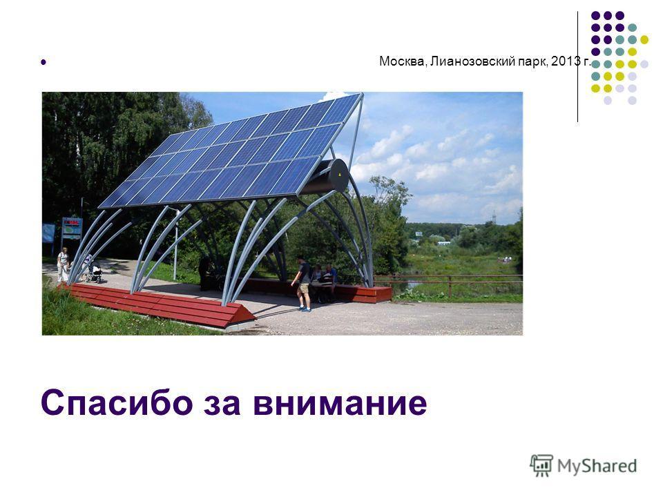 Спасибо за внимание Москва, Лианозовский парк, 2013 г.