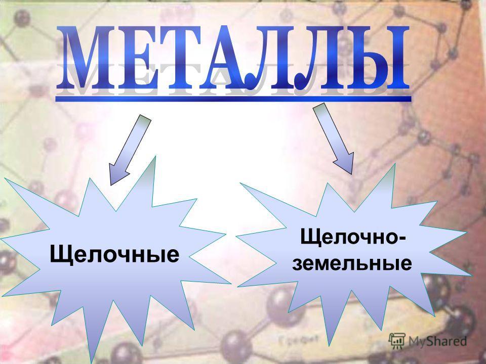 Щелочные Щелочно- земельные