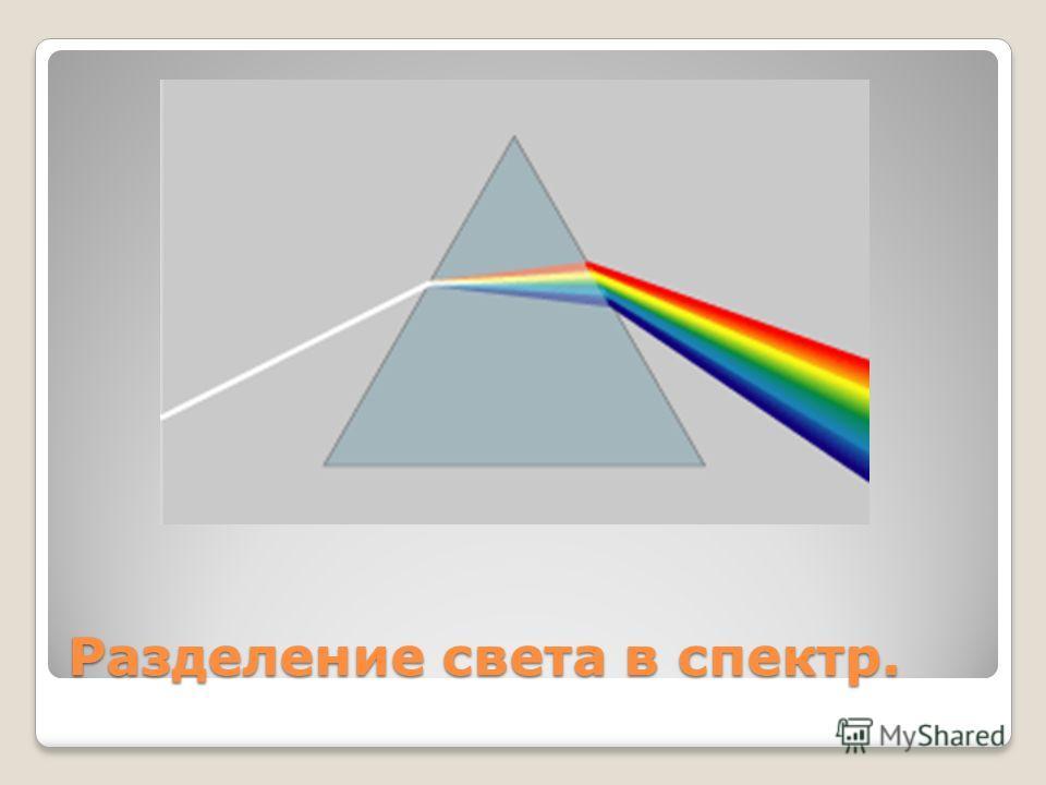 Разделение света в спектр.