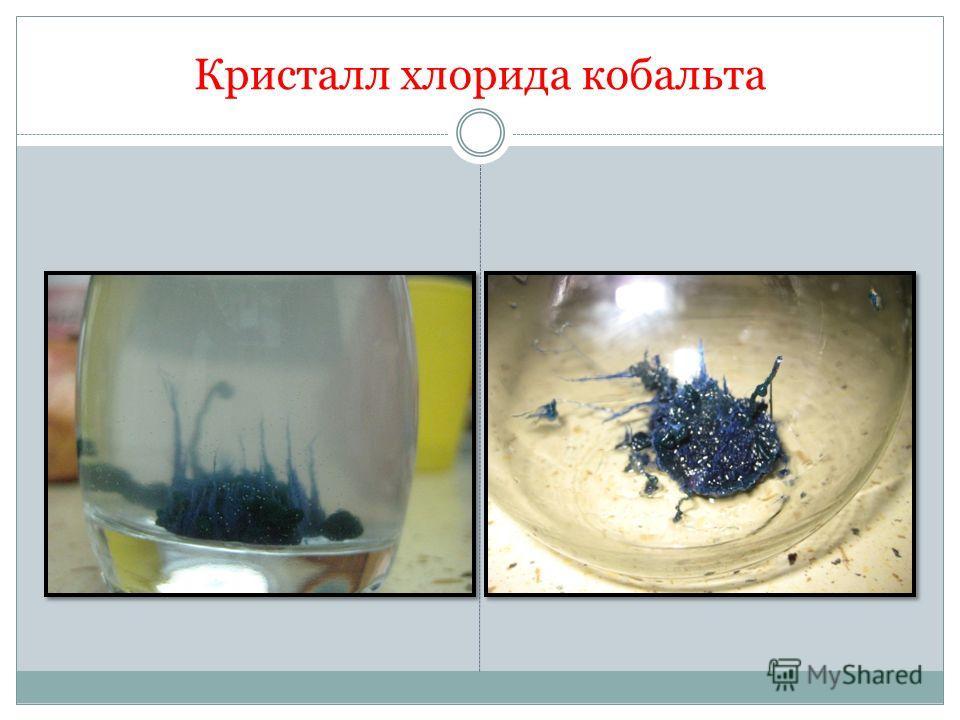 Кристалл хлорида кобальта