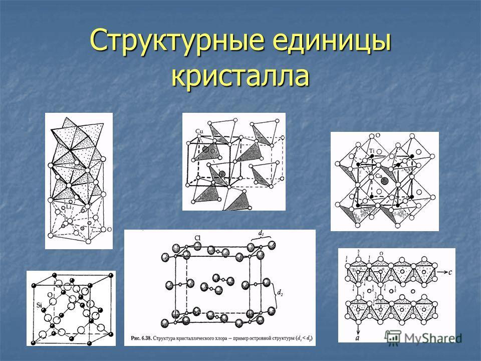 Структурные единицы кристалла