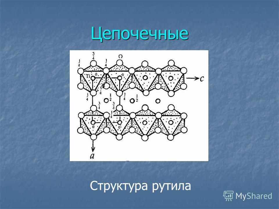Цепочечные Структура рутила