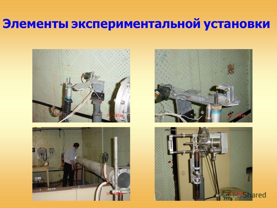 Элементы экспериментальной установки