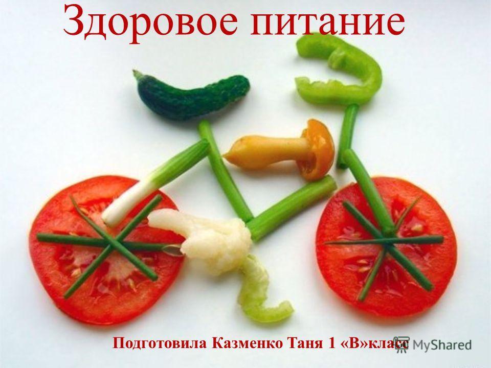 Подготовила Казменко Таня 1 «В»класс Здоровое питание