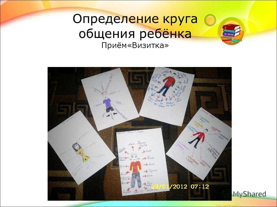 Определение круга общения ребёнка Приём«Визитка»