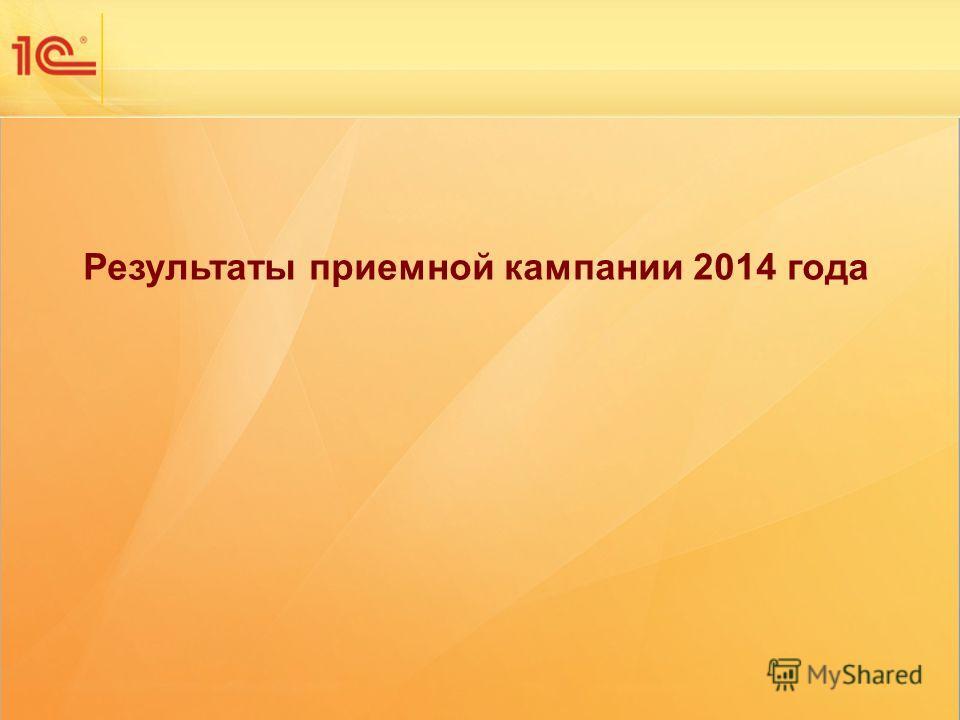 НОВЫЕ ИНФОРМАЦИОННЫЕ ТЕХНОЛОГИИ В ОБРАЗОВАНИИ Одиннадцатая международная научно-практическая конференция Результаты приемной кампании 2014 года