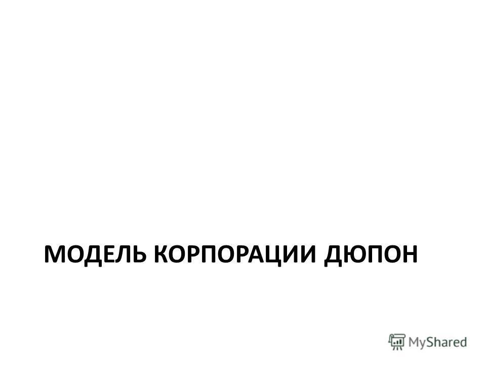 МОДЕЛЬ КОРПОРАЦИИ ДЮПОН