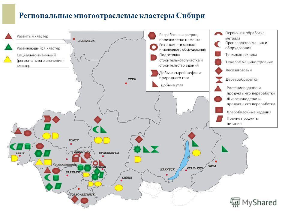 Региональные многоотраслевые кластеры Сибири
