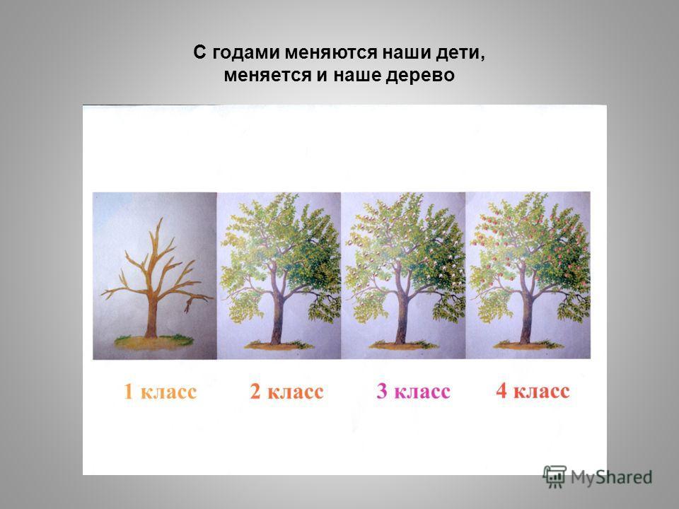 С годами меняются наши дети, меняется и наше дерево