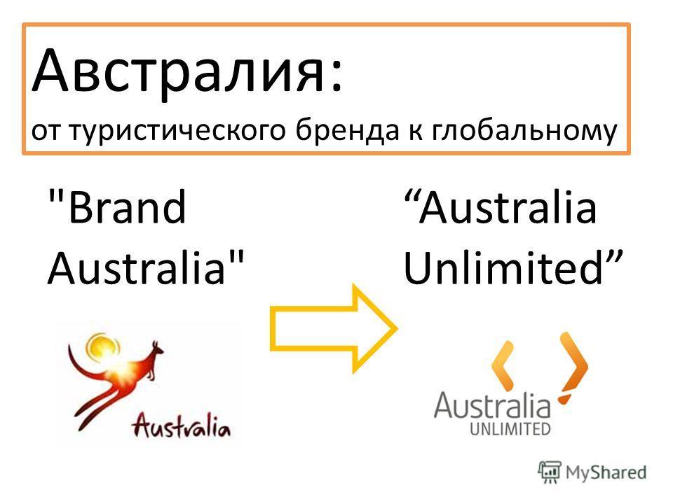 Австралия: от туристического бренда к глобальному Brand Australia Australia Unlimited