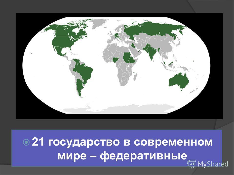 21 государство в современном мире – федеративные