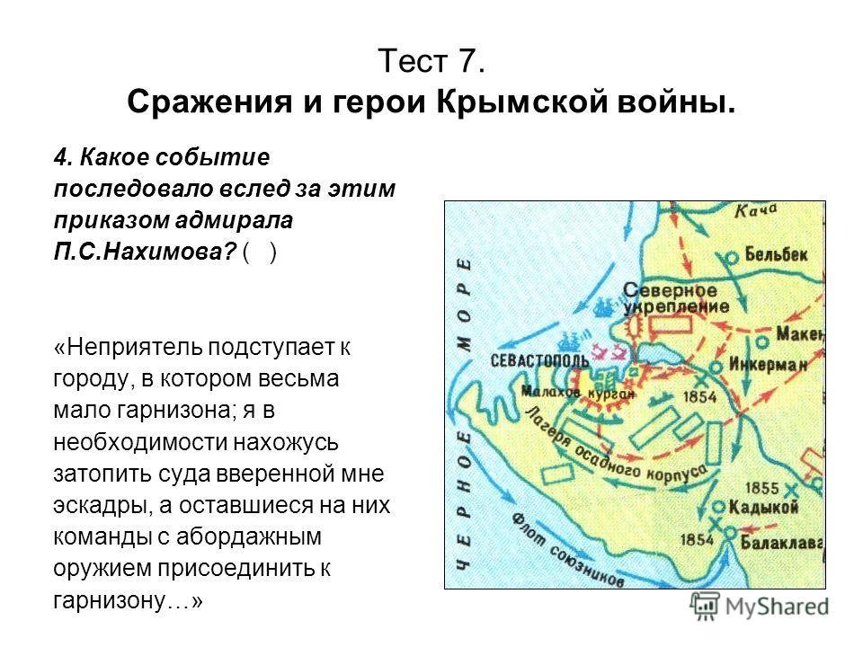 Сражения и герои Крымской