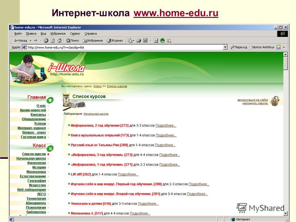 Интернет-школа www.home-edu.ruwww.home-edu.ru