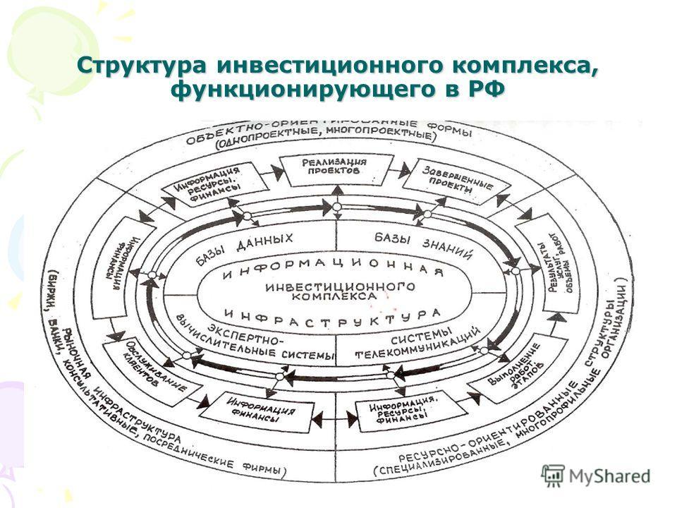 39 Структура инвестиционного комплекса, функционирующего в РФ