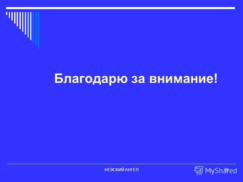 НЕВСКИЙ АНГЕЛ78 Благодарю за внимание!