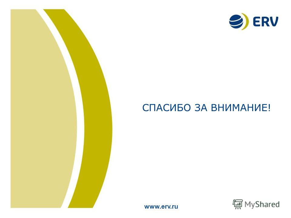 19 Title of the Presentation (26 pt.) Location and Date (18 pt.) СПАСИБО ЗА ВНИМАНИЕ! www.erv.ru