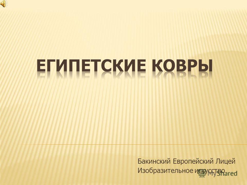 Бакинский Европейский Лицей Изобразительное искусство