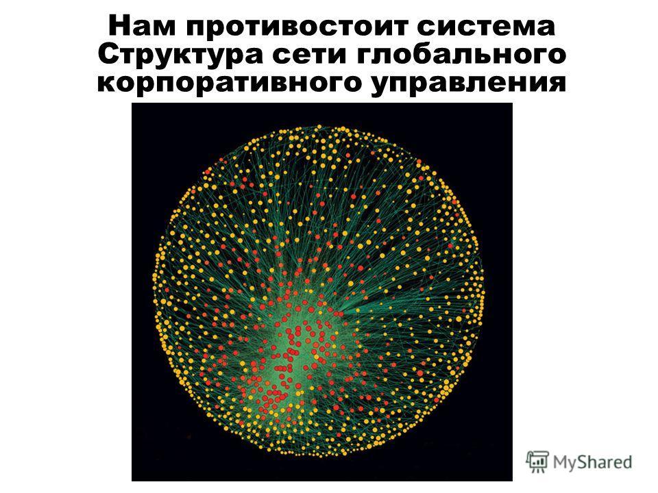 Нам противостоит система Структура сети глобального корпоративного управления