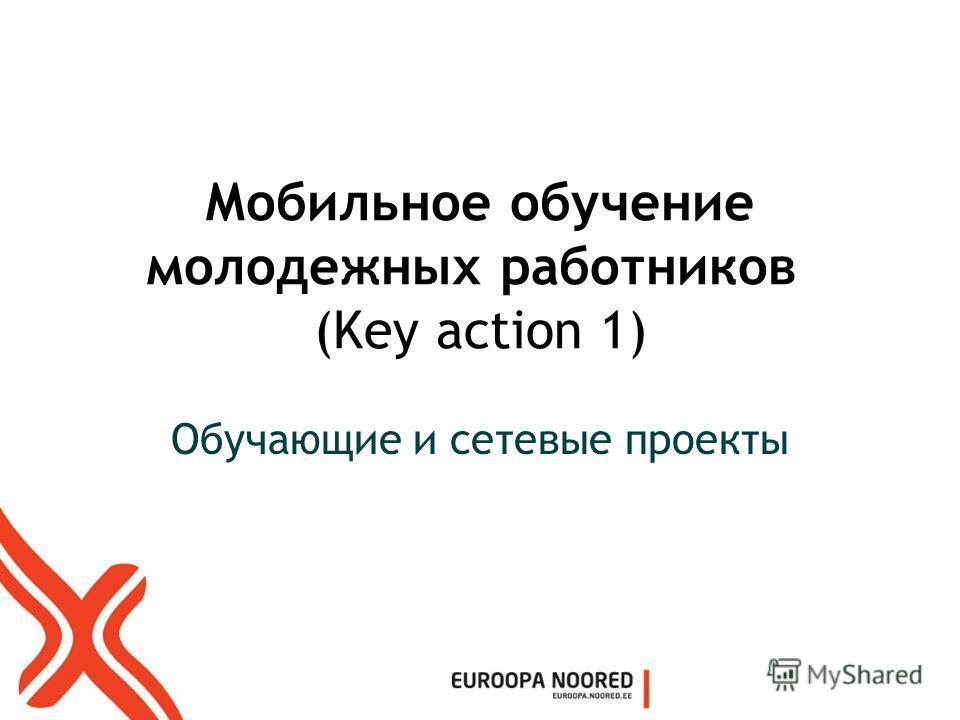 Мобильное обучение молодежных работников (Key action 1) Обучающие и сетевые проекты