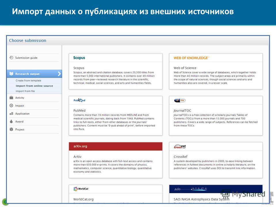 Импорт данных о публикациях из внешних источников 19