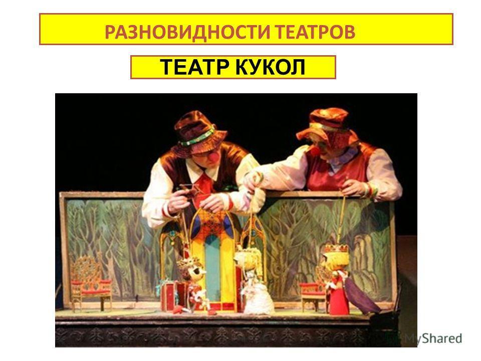 РАЗНОВИДНОСТИ ТЕАТРОВ Театров ТЕАТР КУКОЛ