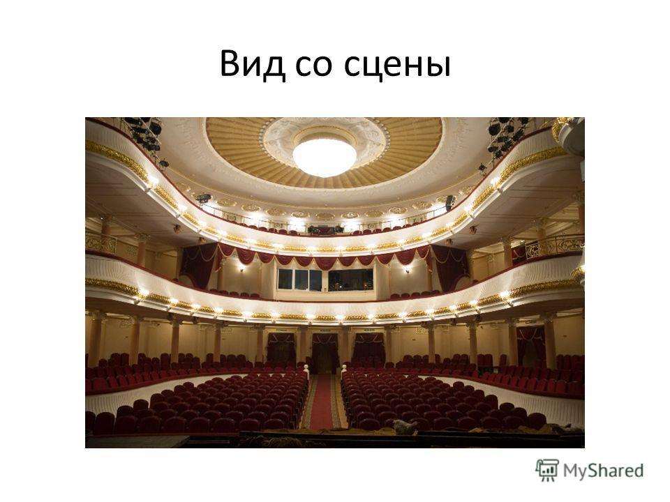 Вид со сцены