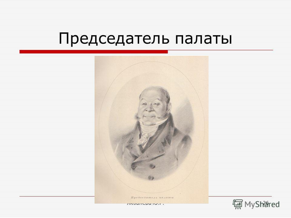 Яковлева Ю.Г.26 Председатель палаты