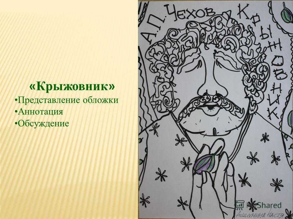 « Крыжовник » Представление обложки Аннотация Обсуждение