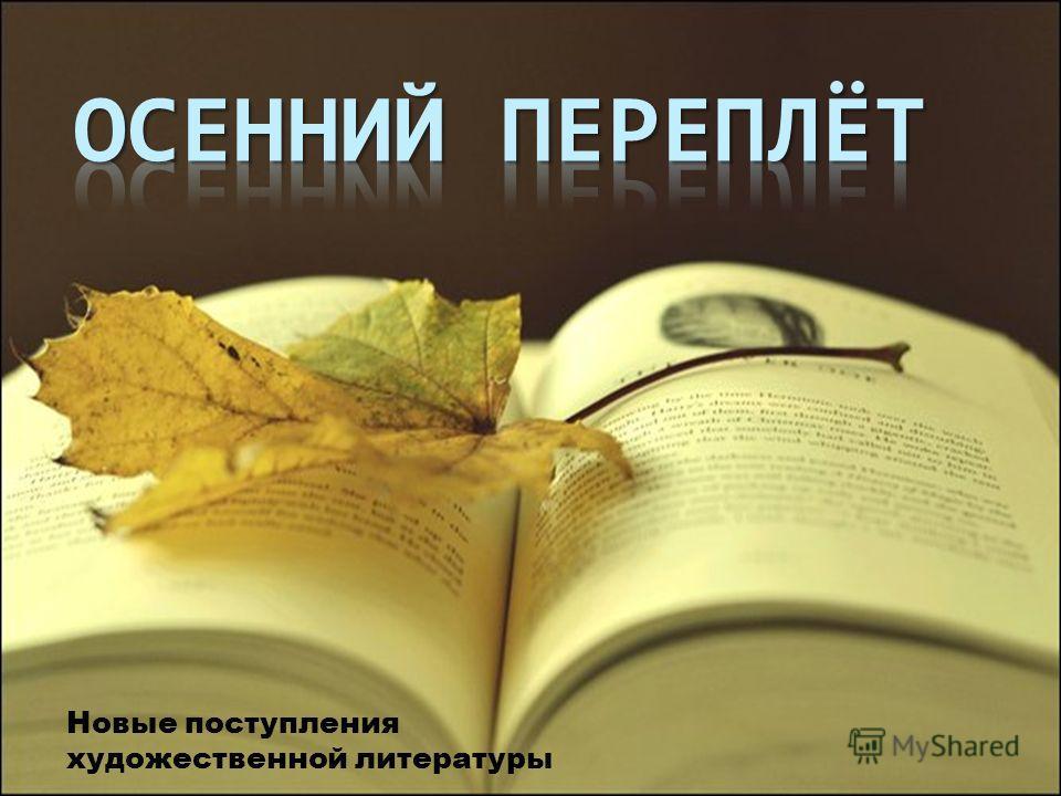 Новые поступления художественной литературы