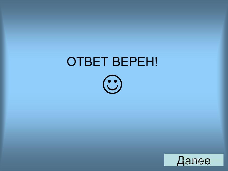 ОТВЕТ ВЕРЕН! Далее