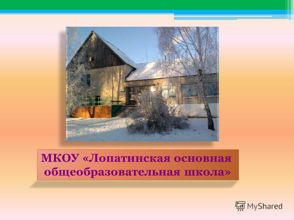 МКОУ «Лопатинская основная общеобразовательная школа»