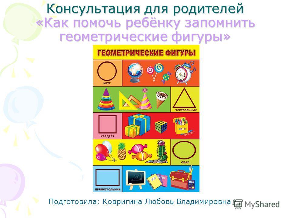 презентация для дошкольников знакомство с геометрическими фигурами