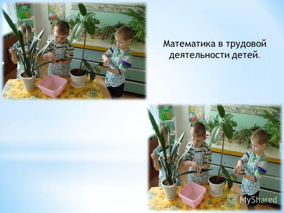 Математика в трудовой деятельности детей.