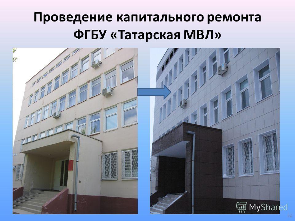 Проведение капитального ремонта ФГБУ «Татарская МВЛ» 52